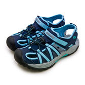 LIKA夢 LOTTO 專業排水護趾運動涼鞋 水陸冒險系列 藍黑灰 6366 女