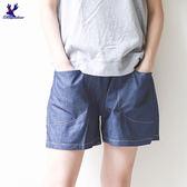 American Bluedeer-點點拼接短褲 春夏新款