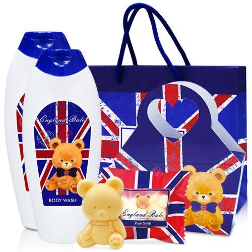 英國貝爾抗菌沐浴洗髮組(國旗款)+國旗皂含紙袋
