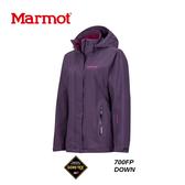 【速捷戶外】美國 Marmot 土撥鼠 35570  女Goretex 兩件式(內層羽絨外套)防水透氣外套(深紫),防水外套