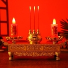 供佛燈 多功能蓮花 燭臺 佛前供燈 電供 蠟燭 電香爐 供臺佛教用品實用 快速出貨