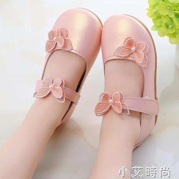 秋季女童鞋蝴蝶皮鞋公主鞋淺口方口鞋學生鞋寶寶鞋中大童朝版單鞋 小艾新品