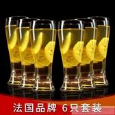 無鉛玻璃杯啤酒杯 耐熱水杯果汁杯飲料杯牛奶杯 【6只套裝】 韓慕精品 YTL