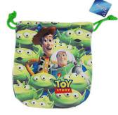【卡漫城】迪士尼 玩具總動員 三眼怪 綠繩 束口袋 ㊣版 Alien Toy Story 相機包 零錢包 收納袋 手機袋