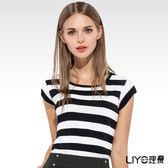 LIYO理優經典圓領條紋上衣O727001