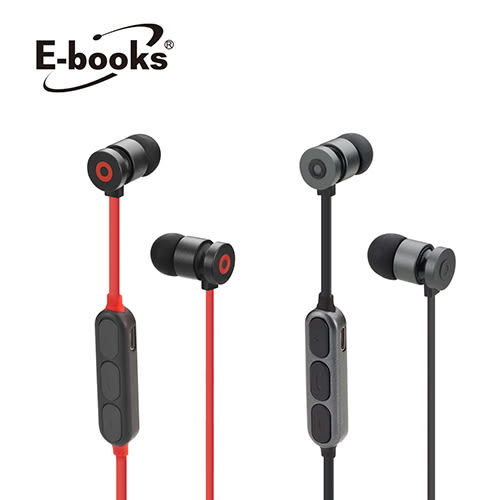 E-books S81藍牙4.2無線磁吸入耳式耳機【愛買】