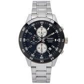 SEIKO 個性競速款的三眼計時手錶(SKS647P1)-灰黑色面X灰黑框/44mm