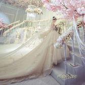 輕婚紗禮服2018新款新娘結婚公主夢幻抹胸顯瘦奢華長拖尾宮廷igo「「時尚彩虹屋」