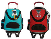 UnMe 可拆式拉桿兒童書包背包3318 藍綠色、橘紅