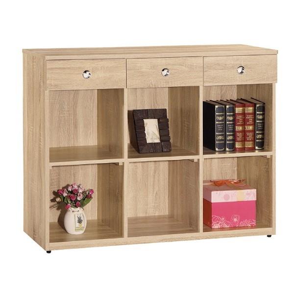 書櫃 書櫥 CV-637-11 安寶耐磨橡木4尺多功能置物櫃【大眾家居舘】