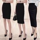 A字裙 2021春夏開叉職業包臀裙高腰彈力修身顯瘦半身裙中長款一步裙長裙 夢藝家