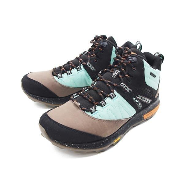 【南紡購物中心】MERRELL(男)ZION MID WATERPROOF X UNLIKELY HIKERS 高筒郊山健行鞋-彩黑
