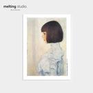 裝飾畫 藝術 掛畫 【G0133】Gustav Klimt藝術裝飾畫-女孩肖像畫(A3) 韓國製 收納專科
