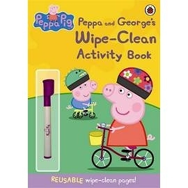 【粉紅豬小妹.擦寫練習書】 PEPPA AND GEORGES WIPE-CLEAN ACTIVITY BK #附筆