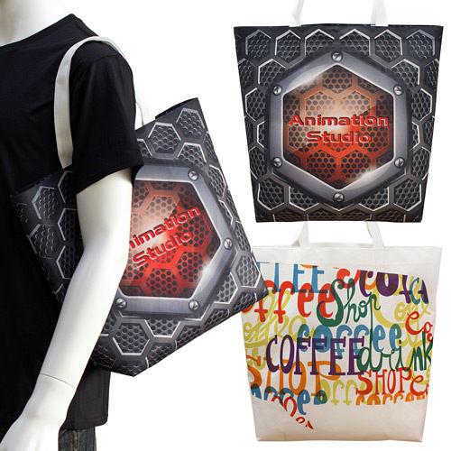 【客製化】環保袋 全彩不織布袋 42x36x12.5cm 短提把 袋身有底 A90-100-091