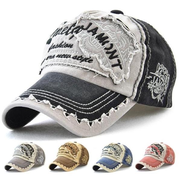 帽子男潮春夏韓版百搭鴨舌帽復古時尚做舊牛仔帽休閒遮陽棒球帽女 時尚芭莎