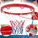 避震彈簧!!標準18吋雙層金屬籃球框(含籃球網)標準籃框架.耐用籃筐架子籃網.Basketball hoop金屬籃架