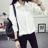 白襯衫女長袖夏季正韓寬鬆百搭職業正裝ol工裝打底學生襯衣【【八折搶購】】