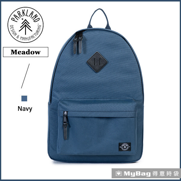 Parkland 後背包 深藍色 電腦後背包 多功能休閒背包 Meadow-042 MyBag得意時袋