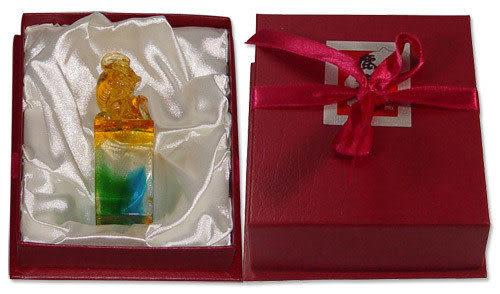 鹿港窯-居家開運水晶琉璃吉祥印章【貔貅】附精美包裝◆免運費送到家