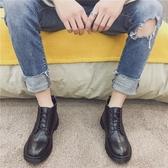 春季韓版潮男靴子短靴高筒馬丁鞋加絨棉靴皮靴中筒英倫風馬丁靴男 居享優品