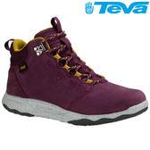 TEVA 《女款》頂級全皮超輕量科技大底中筒防水健走登山鞋ARROWOOD LUX MID WP - 酒紅