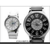 柒彩年代【NE524】 精密陶瓷全部銹鋼腕錶 崁入奧地利水鑽手錶 范倫鐵諾Valentino~單支