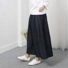 正韓 棉麻鬆緊牛仔褲裙 (8714) 預購