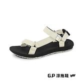G P 女~Charm ~撞色織帶涼鞋女鞋米 黑