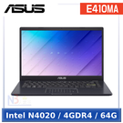 ASUS E410MA-0131BN4020 14吋 【0利率】 入門款 筆電 (Intel N4020/4GDR4/64G/W10HS)