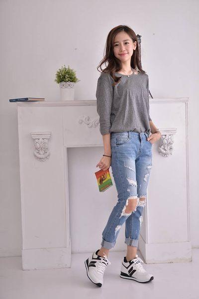 MNX15 - 時尚簡約內增高運動休閒鞋 Robin-白 UP UP 9 cm