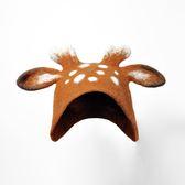 雙11好評再續[小鹿帽子]蘇朵手工羊毛氈濕氈手工手作兒童麋鹿DIY材料包【非凡】