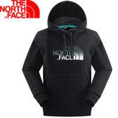 【The North Face 男 LOGO 兜帽套頭衫 黑】CZF5/連帽長袖★滿額送