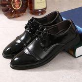 正裝男士男尖頭夏黑色工作鞋英倫韓版休閒鞋男皮鞋 yu2780『夢幻家居』