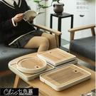 茶盤 竹小茶盤茶臺簡約迷你茶盤家用小型茶盤小號茶托盤小茶臺儲水茶盤