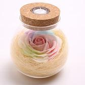 永生花禮盒七彩玫瑰花香皂花夜光遙控送女朋友愛人情人節生日禮物