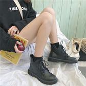 馬丁靴 馬丁靴女秋冬季新款韓版機車靴百搭學生英倫風復古繫帶短靴子 可卡衣櫃