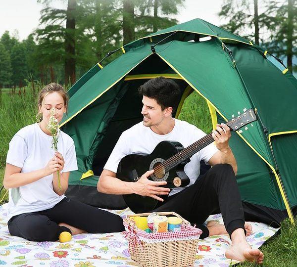 帳篷 篷戶外2人野營單人家用野外露營防暴雨加厚3人-4人全自動 夢藝家