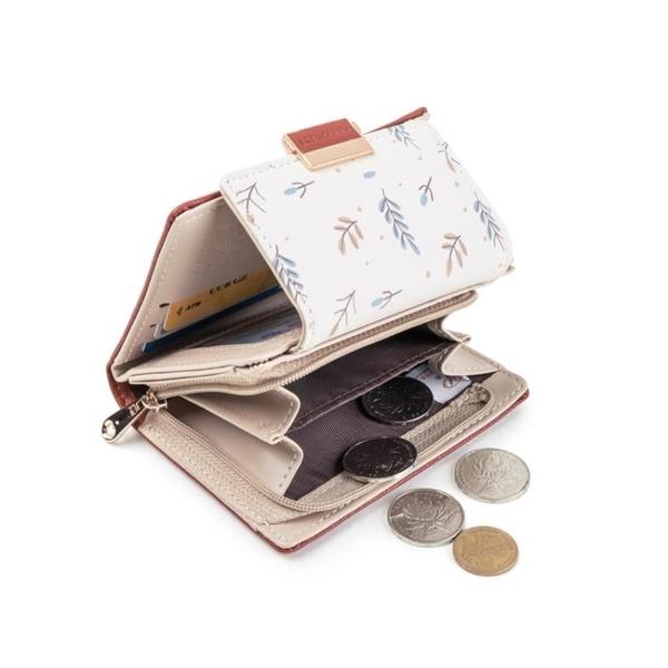 普瑞蒂新款時尚女士小ck錢包女短款摺疊日系ins潮學生零錢包 青木鋪子