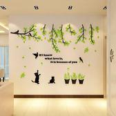 溫馨3D立體墻貼客廳臥室房間墻面上裝飾品墻紙壁紙自粘貼畫WY
