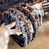 帶鑽細發箍鐵水鑽頭飾韓國成人發卡時尚頭箍鑲鑽韓式氣質【極有家】
