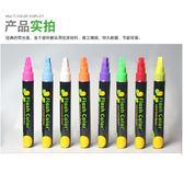 雙十二狂歡電子熒光板專用筆可擦發光板熒光筆LED屏綠黑白板玻璃pop粗彩筆【潮咖地帶】