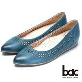 ★2018春夏新品★bac  秀氣典雅時尚品味尖頭平底鞋(藍色)