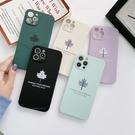 簡約側邊彩繪楓葉 iphone 12 11 Pro Xs Max XR SE i8 i7 i6sPlus 全包硅膠防摔手機殼