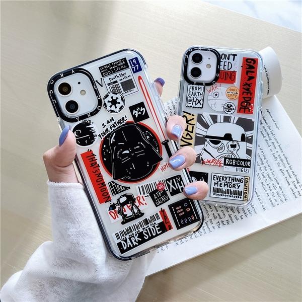 (附掛繩)iPhone11 Pro max i11 SE 2020 防滑邊框 鏡頭框手機殼 全包邊 保護套 透明殼 軟殼 卡通殼