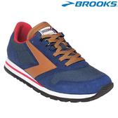 【BROOKS】美國進口Chariot Heritage 男款經典復古慢跑鞋 - 藍棕