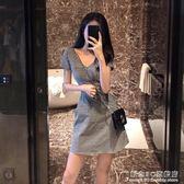 輕熟女氣質款v領收腰連身裙裙子修身顯瘦pphome潮 概念3C旗艦店