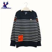 American Bluedeer-條紋貼袋針織上衣(魅力價)