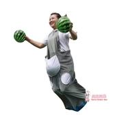 袋鼠跳跳帶 趣味運動會道具袋鼠運瓜兒童跳跳袋拓展游戲道具充氣毛毛蟲袋鼠服 多色