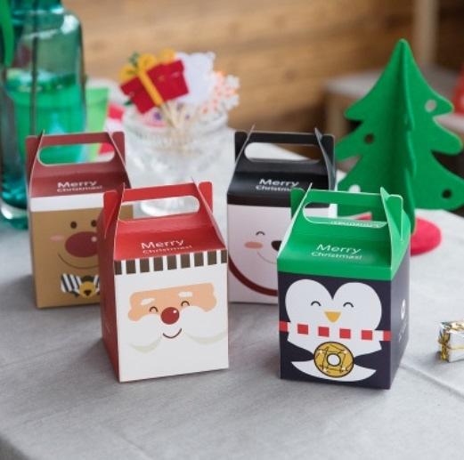 精緻聖誕節禮盒 耶誕禮物盒 聖誕蘋果盒【X005】包裝盒 糖果盒 餅乾盒 蛋糕盒 西點盒 牛軋糖盒